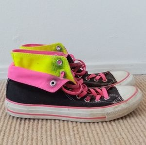 Neon Double Top Chuck Taylors